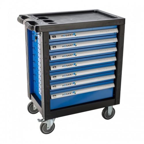 Įrankių vežimėlis 7 stalčių. Be įrankių