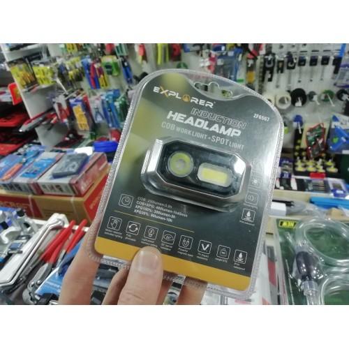 Prožektorius darbui Osram + COB LED (ant galvos) (įkraunamas, su magnetu)