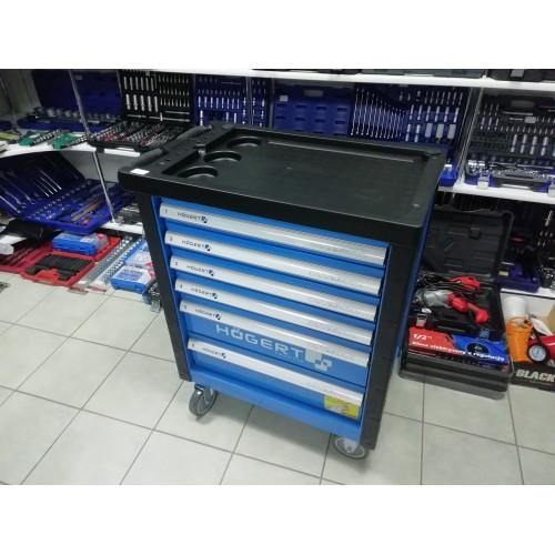 Įrankių vežimėlis 6 stalčių be įrankių