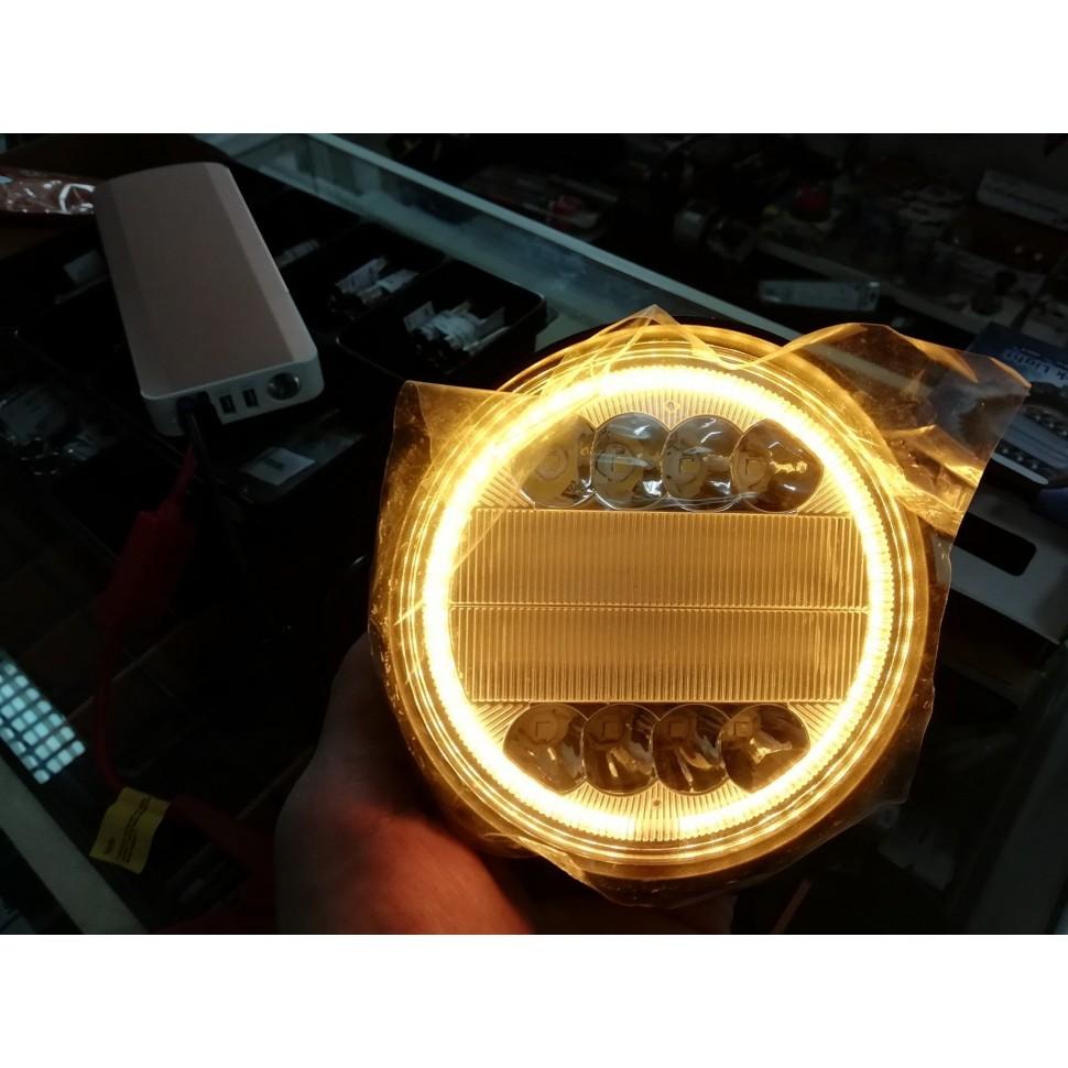Darbinis LED Žibintas 30W. Geltonu apvadu.