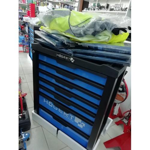 Įrankių vežimėlis su 7 stalčiais be įrankių HOGERT